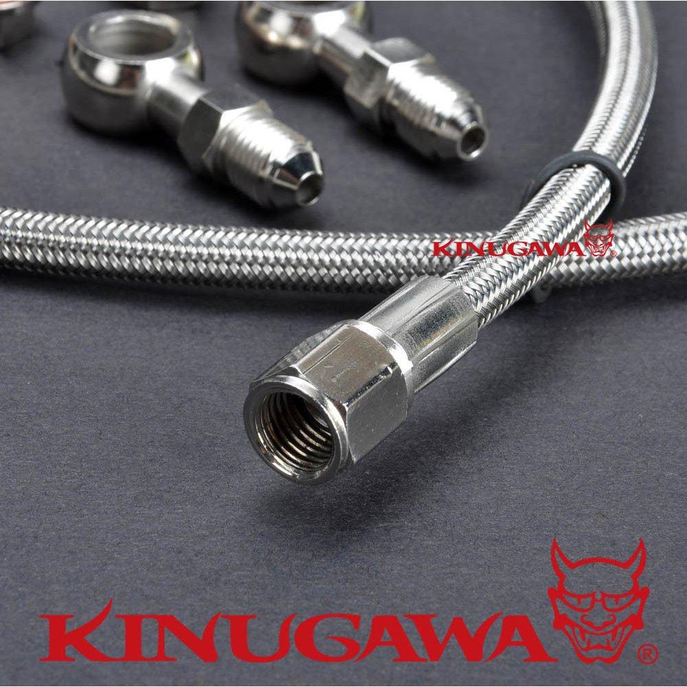 Kinugawa Turbo Oil Feed Line Kit - WRX/STI/FXT/LGT EJ20/EJ25 Non-AVCS  w/TD04/TD05/TD06 Turbo 100cm