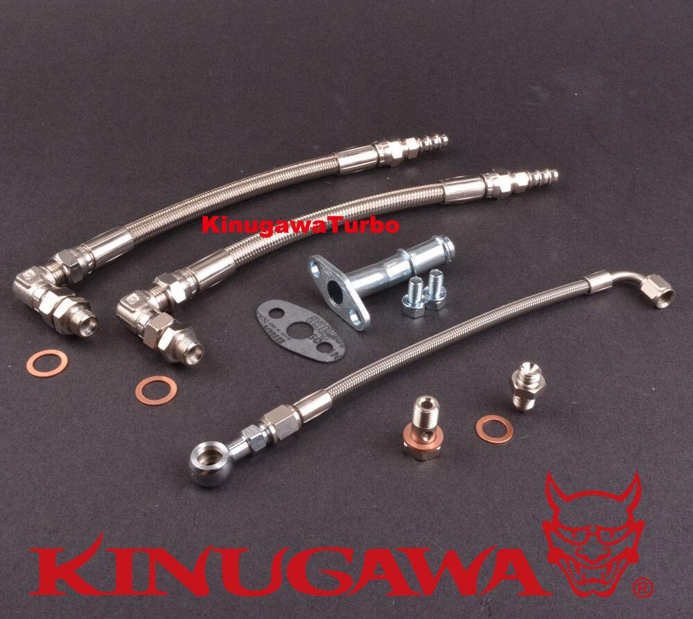Kinugawa Turbo Oil & Water Line Kit - WRX/STI/FXT/LGT EJ20/EJ25 Non-AVCS  w/Garrett Ball Bearing Turbo